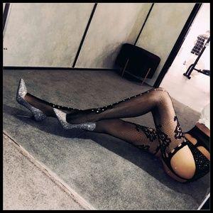 Miss Babydoll Intimates & Sleepwear - ❤️NEW Sexy Bling Fishnet Garter Stockings #D24